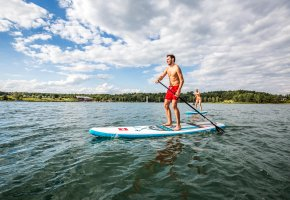 Stand up Paddling am Steinberger See